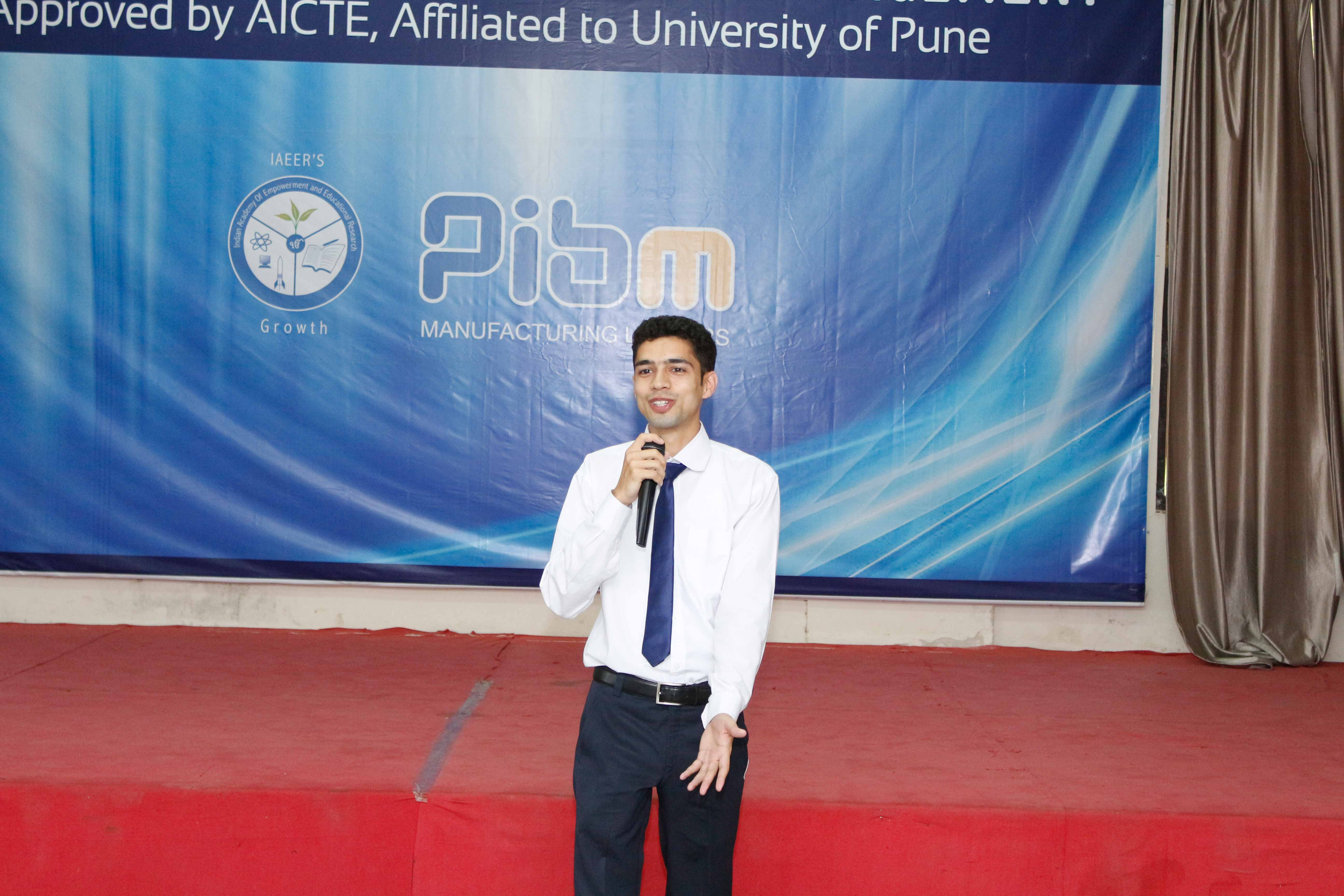 Students presenting the importance of Business Etiquette in Corporate World_Confidence Building_PIBM Pune