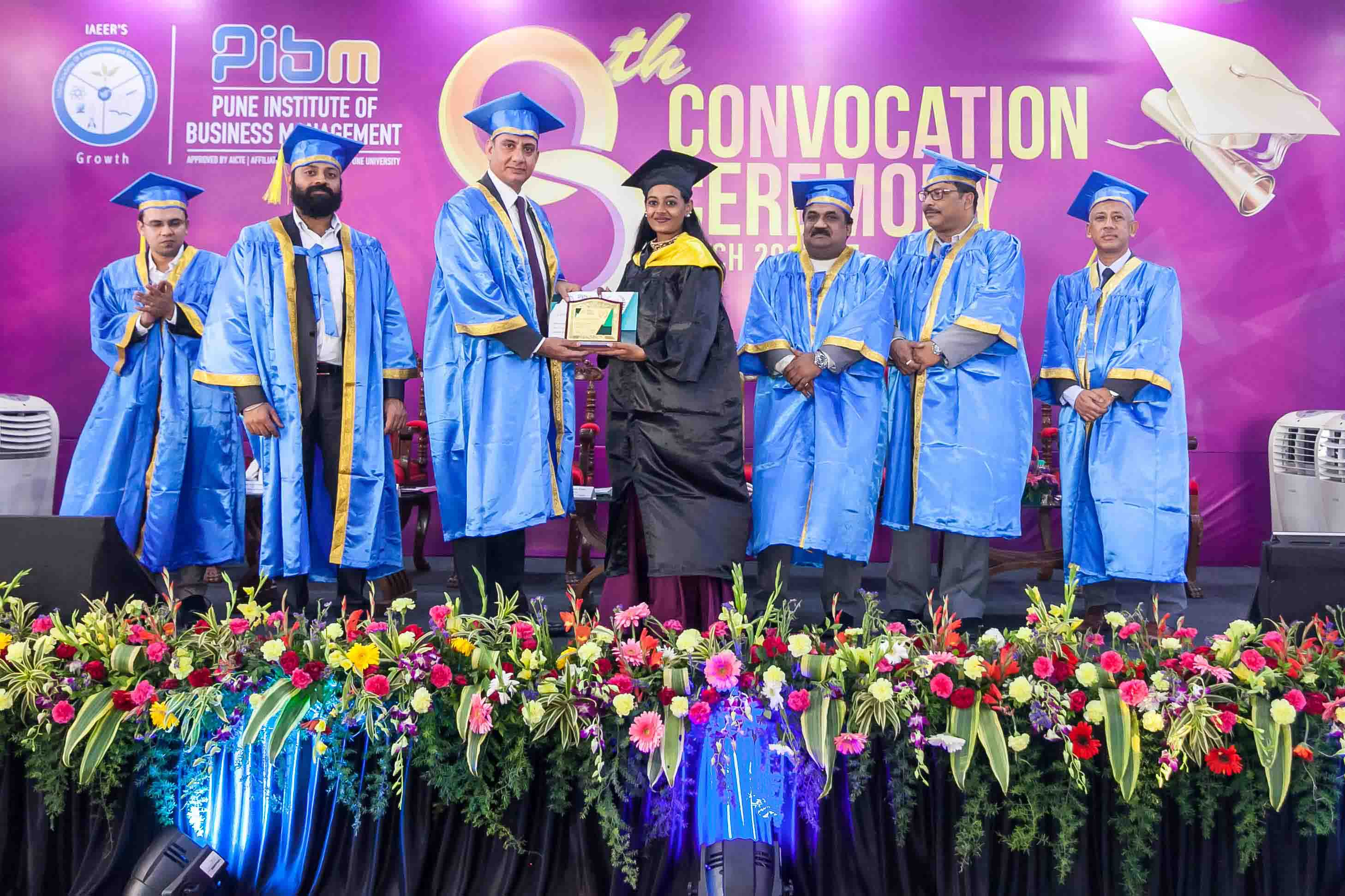 Convocation Day 2015-2017_Convocation_PIBM Pune