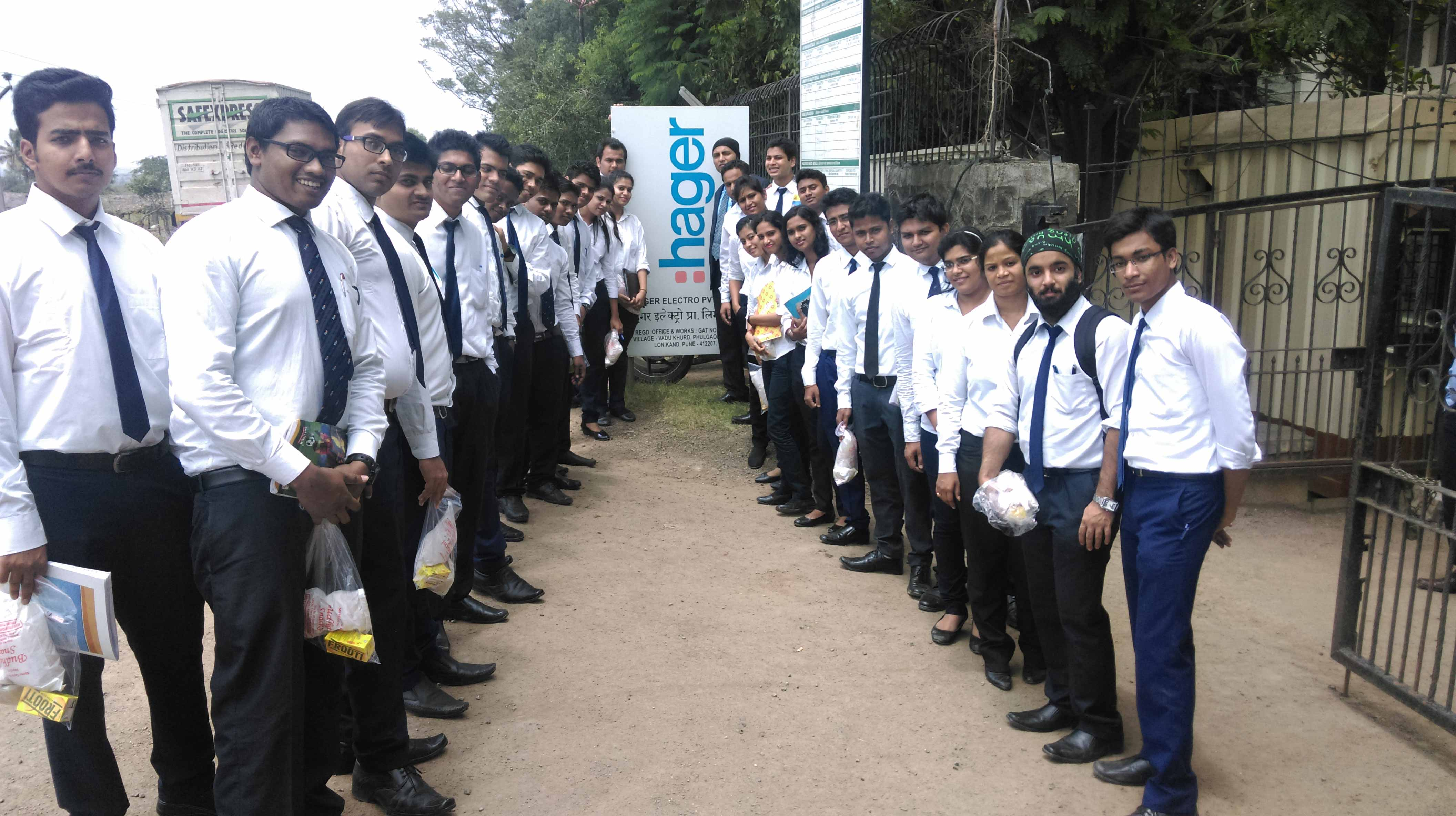 Industry visit to Hager_Industry Visit_PIBM Pune
